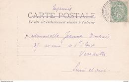 L4B029 France Blanc 5c Vert / CP Montbonnot Isère Pour Versailles 08 10 1902 - 1900-29 Blanc