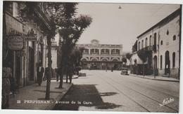 DAV :  Pyrénées  Orientales :  PERPIGNAN :  Avenue D Ela  Gare ( Narko), Hotel Du  Berry ( Coupée??) - Perpignan