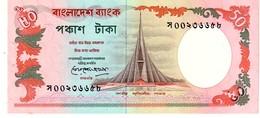 Bangladesh P.28  50 Taka 1990 Au+ - Bangladesh