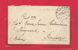 REGNO 265 - Biglietto Chiuso, Affrancato Al Verso, Viagg. Nel 1931 Da Bologna A Piumazzo - Poststempel
