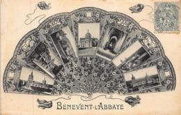 BENEVENT L'ABBAYE : Fantaisie - évantail - Multivue - Très Bon état - Benevent L'Abbaye