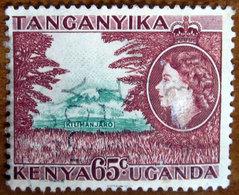 1954 KENYA UGANDA TANGANYIKA Regina Elisabetta Mt. Kilimanjaro  - 65c Usato - Kenya, Uganda & Tanganyika