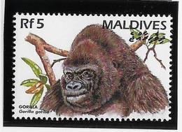 Thème Animaux - Singes - Gorilles - Maldives - Neuf ** Sans Charnière - TB - Monkeys