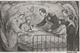 Belgique - Le Roi Et La Reine - Onze Dapperen Vereerd - Carte Circulé En 1915 - War 1914-18