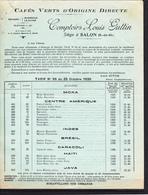 13 - Catalogue : Cafés Verts D'Origine Directe, Comptoirs Louis Guttin à SALON De PROVENCE (13) - Alimentos
