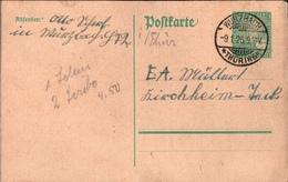 ! 1926 Ganzsache Deutsches Reich, Wurzbach Nach Kirchheim Teck - Germania