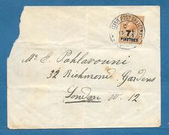 BRITISH POST OFFICE CONSTANTINOPLE SURCHARGE 7 1/2 PIASTRES 1922 - Levante Britannico