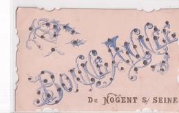 BONNE ANNEE DE NOGENT SUR SEINE     PAILLETTES       LA POSTE - Nogent-sur-Seine