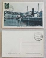 "Cartolina Illustrata Fiume ""Riva C.Colombo"" - Timbrata 1408/1928 - Storia Postale"