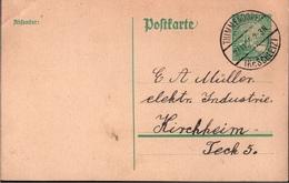 ! 1925 Ganzsache Deutsches Reich, Thimmendorf, Ruppersdorf, Kreis Schleiz Nach Kirchheim Teck - Germany