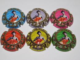 Série De 6 Capsules De Champagne  - GENERIQUE N°1035 - Collections