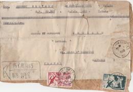 PA 16 + 17 SUR ETIQUETTE COLIS POSTE AUX ARMEES T.O.E. BPM403 - SP 52267 POUR FRANCE ST ANDRE D HEBERTOT CALVADOS - Marcophilie (Lettres)