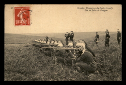 Grandes Manoeuvres Du Centre 1908 – Feu De Salve De Dragons - Manoeuvres