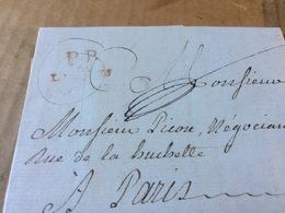 LETTRE DU 15  AVRIL 1785  CACHET  ROUGE      P P   LIMOGES - 1701-1800: Precursores XVIII