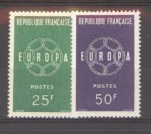 France  :  Yv  1218-19  **  Europa - Neufs
