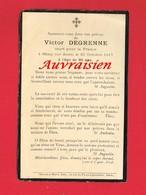 Avis De Décès De Victor DEGRENNE Mort Pour La France à MISSY SUR AISNE En 1917 Guerre 14-18 - Obituary Notices