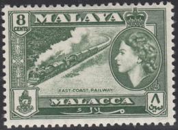 Malaya Malacca 1957 MH Sc 49 8c East Coast Railway, Elizabeth II - Malacca