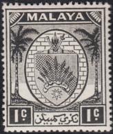 Malaya Negri Sembilan 1949-55 MH Sc 38 1c Coat Of Arms - Negri Sembilan