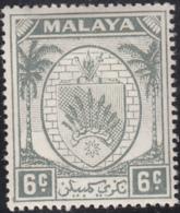 Malaya Negri Sembilan 1949-55 MH Sc 43 6c Coat Of Arms - Negri Sembilan