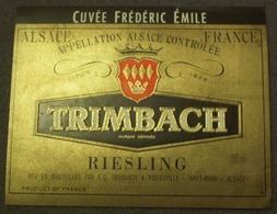 TRIMBACH Riesling Cuvée Frédéric Emile Mis En Bouteille à Ribeauvillé Haut-Rhin 700 Ml - Riesling