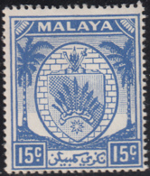 Malaya Negri Sembilan 1949-55 MH Sc 48 15c Coat Of Arms - Negri Sembilan
