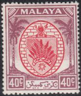 Malaya Negri Sembilan 1949-55 MH Sc 54 40c Coat Of Arms - Negri Sembilan