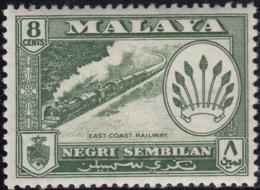 Malaya Negri Sembilan 1957-63 MH Sc 68 8c East Coast Railway, Coat Of Arms - Negri Sembilan