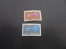 K30742- Set  - 0,30 Waved Paper - MNh Andorre    1968 -   CEPT - Europa - Europa-CEPT
