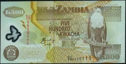 ZAMBIA - 500 Kwacha 2008 {Polymer} UNC P.43 F - Zambie