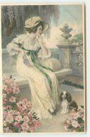 N°14674 - MM Vienne M. Munk N°708 - Jeune Femme Pensant Avec Un Chien à Ses Côtés - Vienne