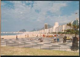 °°° 19969 - BRASIL - RIO DE JANEIRO - PRAIA DE COPACABANA - 1983 With Stamps °°° - Rio De Janeiro