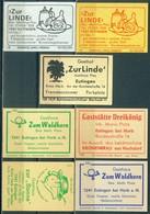 7 Alte Gasthausetiketten Sortiert Nach Ort: Eutingen Bei Horb Am Neckar Und Alte Postleitzahl: 7241 - Boites D'allumettes - Etiquettes