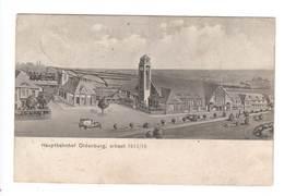 Ansichtskarte , Oldenburg Hauptbahnhof , 1915 - Oldenburg