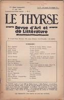 LE THYRSE - REVUE D' ART ET DE LITTèRATURE N° 5 ANNO 1947 IV° SèRIE (MENSUELLE) - Libri, Riviste, Fumetti