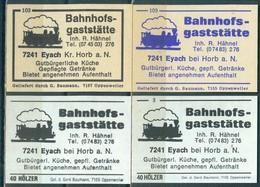 4 Alte Gasthausetiketten Sortiert Nach Ort: Eyach Bei Horb Am Neckar Und Alte Postleitzahl: 7241 - Boites D'allumettes - Etiquettes