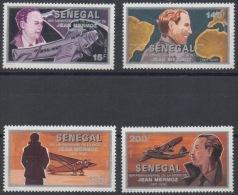Sénégal 1991 / 1993 Aviateur Flugzeug Avion Airplane Jean Mermoz 1901-1936  Mi. A1252 - D1252 4 Val. RARE MNH - Senegal (1960-...)