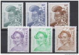 Sénégal 2003/2005 Mi. 2070/2075 Série Courante Femme Peulh & La Linguere RARE MNH - Senegal (1960-...)