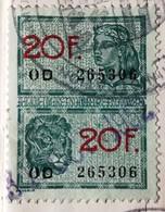 ETAT CIVIL/Carnet De Mariage De 1952 - Timbre Fiscal à 2x 20F-N°OD 265306 - Taxe Communale De GHLIN - Ville De MONS - Fiscale Zegels