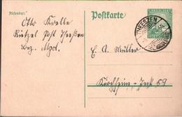 ! 1926 Ganzsache Deutsches Reich, Theeszen Bz. Magdeburg Nach Kirchheim Teck - Germany