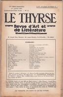 LE THYRSE - REVUE D' ART ET DE LITTèRATURE N° 10 ANNO 1947 IV° SèRIE (MENSUELLE) - Libri, Riviste, Fumetti