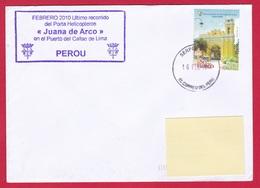 4463 Marine, PH Jeanne D'Arc, Campagne 2009-2010, Escale à Callao, Pérou, Oblit. Locale, 16-02-2010, Santiago De Surco ( - Correo Naval