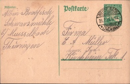 ! 1925 Ganzsache Deutsches Reich, Meuselbach In Thüringen Nach Kirchheim Teck - Germany