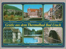 BRD - AK - Thermalbad Bad Urach - Markt Schloß Mühlrad - Bad Urach