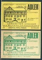 2 Alte Gasthausetiketten Sortiert Nach Ort: Leinstetten Und Alte Postleitzahl: 7241 - Boites D'allumettes - Etiquettes