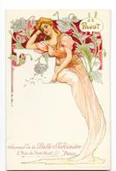 ART NOUVEAU ANONYME Carte Illustrée Genre MUCHA Le Pavot Publicité La Belle Jardinière PARIS - Avant 1900