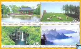 South Korea Stamps 2012, Fascinating Tourist Destinations Series 2, MNH - Korea, South