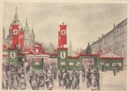 Deutsches Reich Propaganda Postkarte 1937 Berlin Wheinachtsmarkt - Briefe U. Dokumente