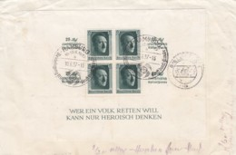 Deutsches Reich Propaganda R Brief 1937 Block Nr. 11 - Covers & Documents