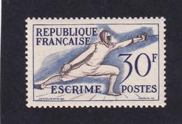 FRANCE 1953 - YT N°962 - 30 F. Bleu-violet Et Bistre - Escrime - Jeux Olympiques D'Helsinki - Neuf** - TTB Etat - France