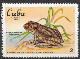 Cuba 1969 MiNr. 1553  Frogs  Wildlife Zapata  MNH - Frogs